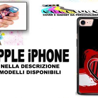 COVER IN SILICONE PER IPHONE 6/S 7/8/PLUS X/S/MAX CUORE MILAN